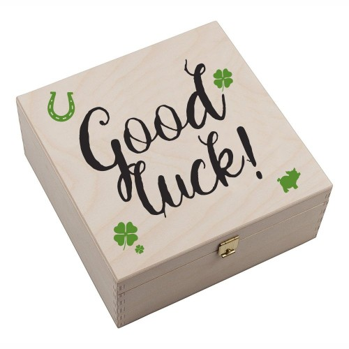 "Hufeisen-Box mit Motiv ""Good Luck"""