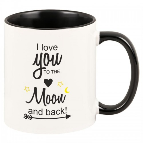 "Tasse ""I love you to the moon and back!"" (schwarze Tasse)"