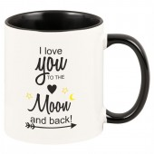 "Tasse ""I love you to the moon and back!"""