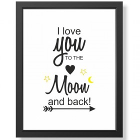 "Bild ""I love you to the moon and back!"" - Bild im Rahmen"